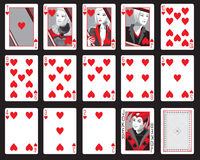 Hearts Playing Cards Royalty Free Stock Images