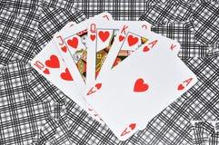 Hearts poker Royalty Free Stock Photography