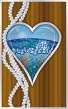 Hearts poker card ship porthole Stock Photos