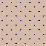 Hearts polka dot seamless pattern. Stock Image