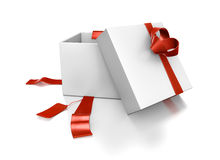 Hearts popout from white gift box. Royalty Free Stock Photos