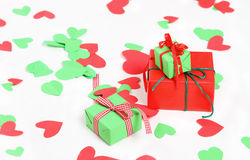 Hearts and presents Royalty Free Stock Image