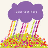 Hearts rain and clouds speech bubbles. Stock Images