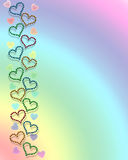 Hearts and rainbow background Royalty Free Stock Photos