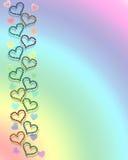 Hearts and rainbow background royalty free stock photos
