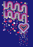 Hearts and rainbows with sequins.  Stock Photography