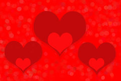 Hearts, red background Royalty Free Stock Image
