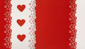 Hearts Red Background. Valentine Day Wedding Greeting Card Royalty Free Stock Photos