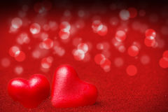 Hearts, red background for Valentine's Day. Red background with hearts for Valentine's Day Stock Image