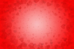 Hearts on red background. Royalty Free Stock Photography