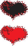 Hearts red and black Royalty Free Stock Image