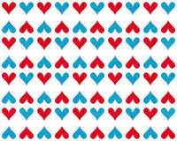 HEARTS IN RED AND BLUE COLORS royalty free stock images
