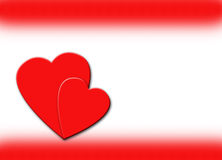 Hearts and Red Border Illustration stock photos