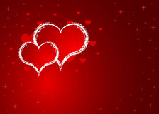Hearts red. Day valentine Royalty Free Stock Image