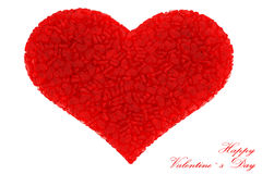 Hearts. Red hearts isolated white background Valentine's Day vector illustration