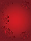 Hearts card Stock Photo