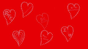 Hearts on Red stock video