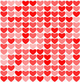 Hearts retro background Stock Image