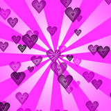 Hearts retro background Royalty Free Stock Image