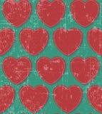 Hearts retro grunge seamless Royalty Free Stock Photography