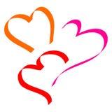 hearts ribbon Royalty Free Stock Image