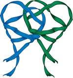 Hearts of ribbon royalty free illustration