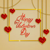 Hearts from ribbon. Valentine`s day background. Royalty Free Stock Photo