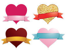 Hearts and ribbons Royalty Free Stock Photo