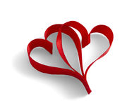 Hearts Ribbons Royalty Free Stock Photos