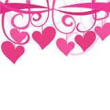 Hearts and ribbons background Stock Image
