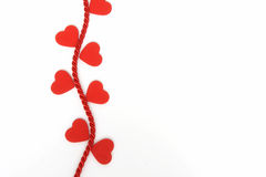Hearts On A Rope Vine Royalty Free Stock Photography