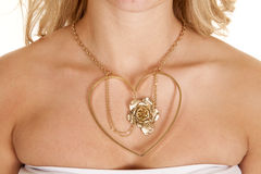 Hearts rose necklace Royalty Free Stock Photography