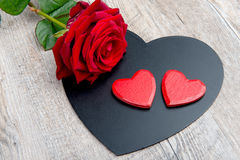 Hearts and rose for  Valentine's day Royalty Free Stock Images