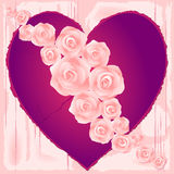 Hearts and roses Royalty Free Stock Image