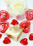 Hearts and roses Royalty Free Stock Photo