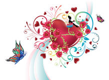 Hearts and Roses Royalty Free Stock Photos