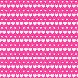 Hearts Row Seamless Background Love Stock Photos