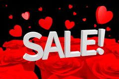 Hearts sale concept... Stock Photography