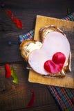 Hearts sandwich shape bread food royalty free stock photography