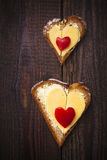 Hearts sandwiches shape bread food stock images