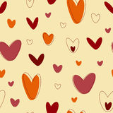 Hearts seamless Royalty Free Stock Photography