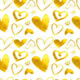 Hearts. Seamless abstract pattern. Stock Photography