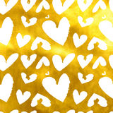 Hearts. Seamless abstract pattern. Stock Photos