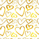 Hearts. Seamless abstract pattern. Royalty Free Stock Image