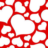 Hearts seamless background. Stock Photo