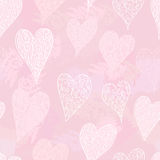 Hearts seamless background Royalty Free Stock Photos
