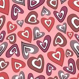 Hearts seamless background Stock Photo