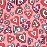 Hearts seamless background Stock Photo