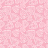 Hearts seamless background. Love retro texture. Stock Photography