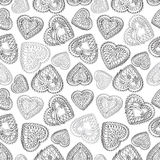 Hearts seamless background. Love retro texture. Royalty Free Stock Image